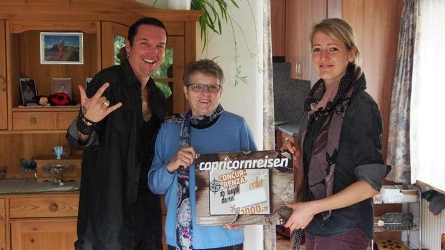 Adula Camichel da S-chanf ha gudagnà il bon d'ir en vacanzas.