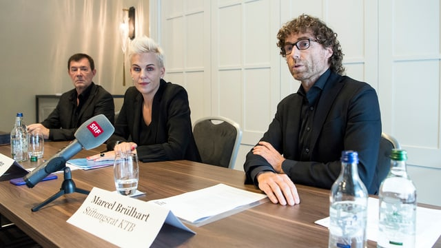 Marcel Brülhart, Nadine Borter und Stephan Märki