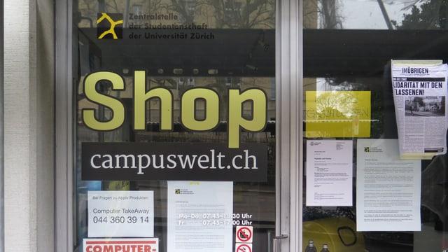Ein geschlossener Kiosk für Studenten