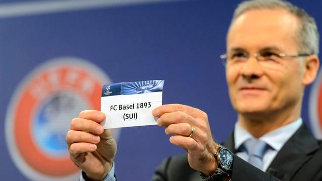 Der FC Basel wird bei der CL-Auslosung gezogen.