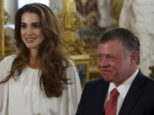 Der König von Jordanien, Abdullah II, und seine Frau Rania.