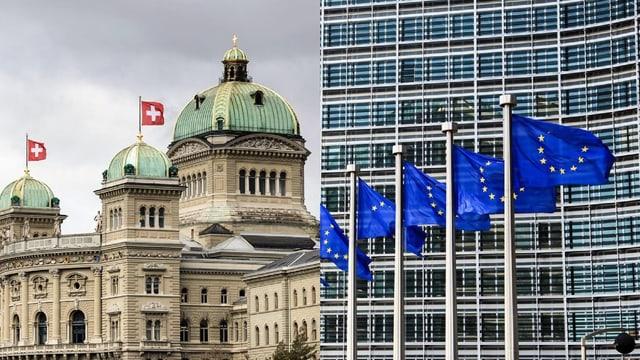 Chasa federala e bandieras da l'UE