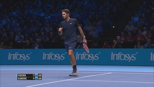 Federer ballt die Faust.