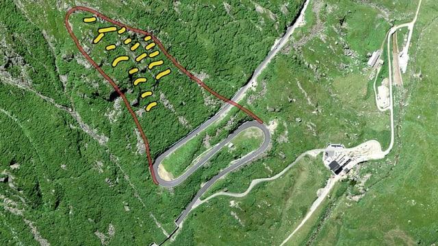 Rempars da lavinas planisads en il sectur da privel Stgegia.