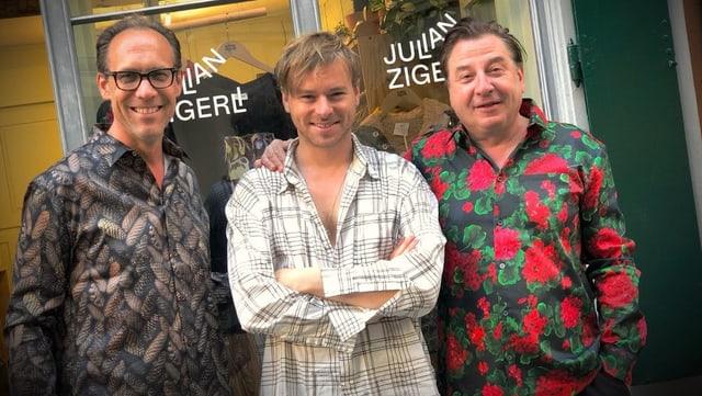 Christian Zeugin, Julian Zigerli und Beat Schlatter