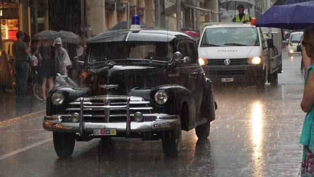 Historisches Polizeiauto