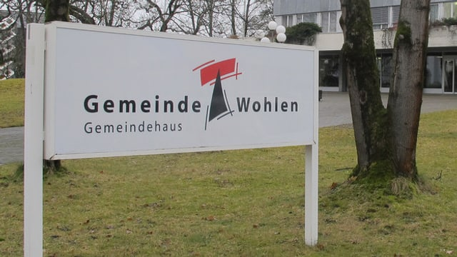 Schild Gemeinde Wohlen.