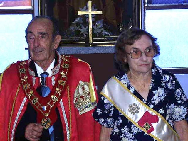 Prinz Leonard von Hutt River und seine inzwischen verstorbene Ehefrau.