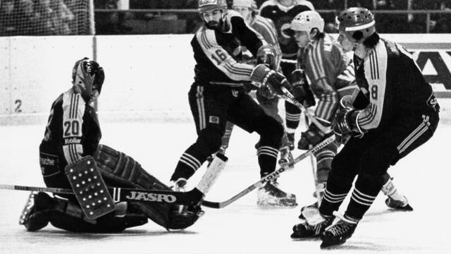 EHC Arosa und SC Bern 1980
