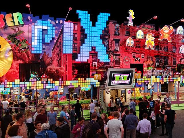 Laser Pix - eine neue Bahn an der diesjährigen Basler Herbstmesse.