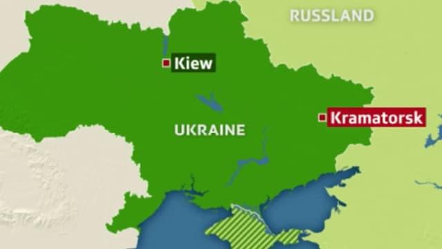 Karte von der Ukraine.