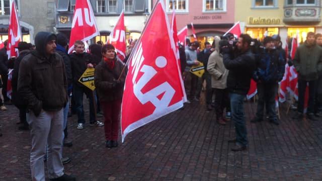 Unia-Gewerkschafter in Schaffhausen