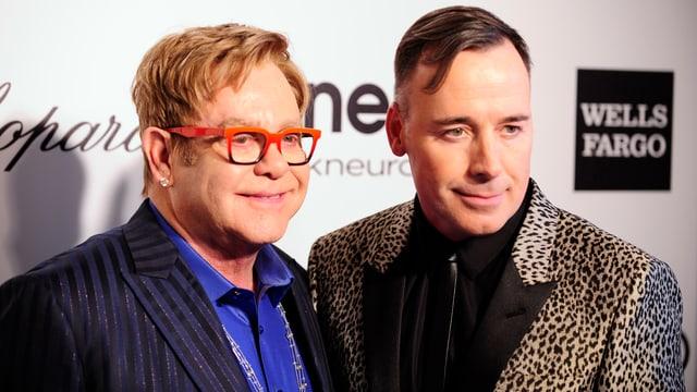 Elton John und David Furnish.