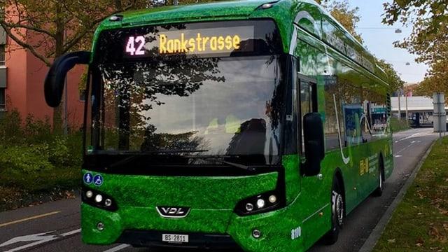 E-Bus der Basler Verkehrsbetriebe auf der Linie 42.