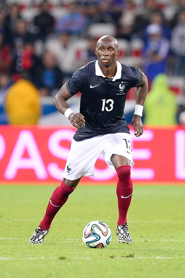 Eliaquim Mangala in einem Spiel mit der französischen Nationalmannschaft.