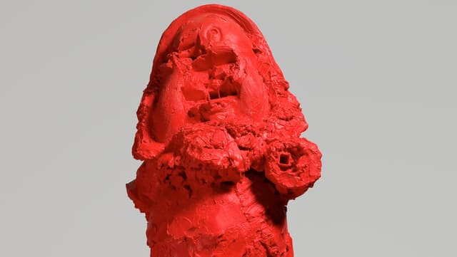 Die Skulptur «White Snow Dwarf»