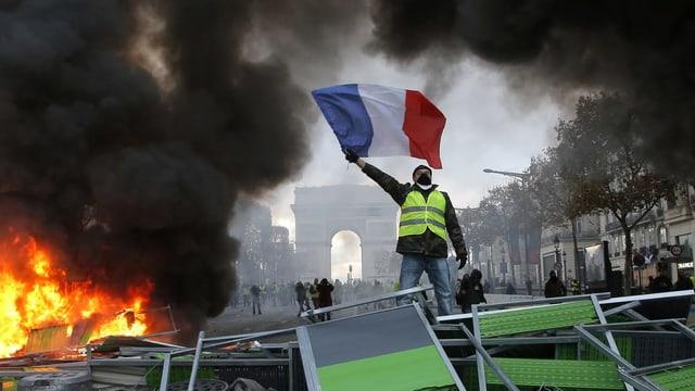 «Gilets Jaunes» in Paris.