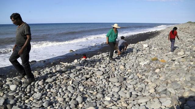 Strand von St. André auf La Réunion, wo am Mittwoch ein Trümmerteil eines Flugzeugs aufgetaucht war.
