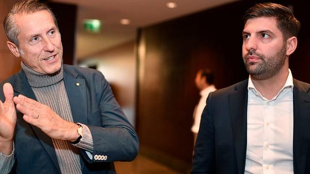 Da sanester: Il president da GC Stephan Anliker e CEO Manuel Huber sa retiran.