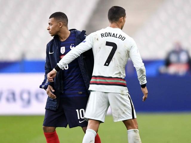 Kylian Mbappé (22) und Cristiano Ronaldo (36).