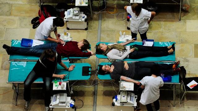 Blutspende-Aktion an der Universität Zürich.