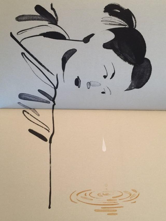 Zeichnung von Christoph Niemann mit einem Bogenschützen, der sein Ziel ins Visier nimmt in «Der Weg des Bogens» von Paulo Coelho
