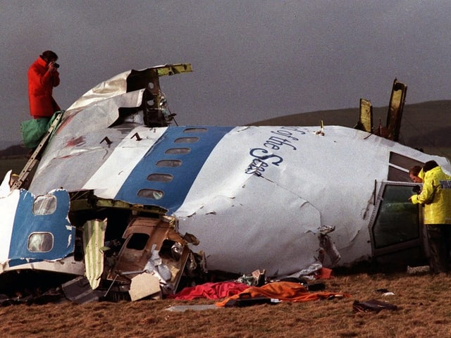 Hälfte des Cockpits der 1988 bei Lockerbie abgestürzten Pan Am Maschine.