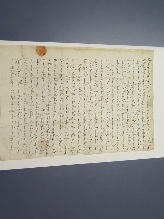 Originalbrief von Joachim vom Watt aus dem 16. Jahrhundert.