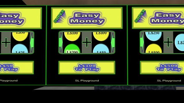 Aufnahme von Geldspielautomaten in der virtuellen Welt «Second Life».