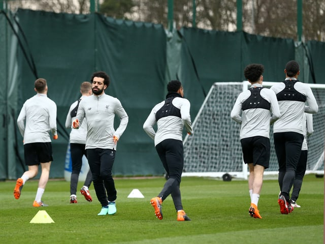 Mo Salah ist im Training der «Reds» dabei.