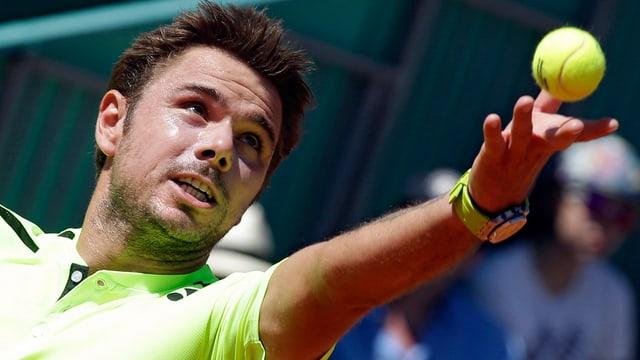 Stan Wawrinka en acziun al turnier da Monte Carlo