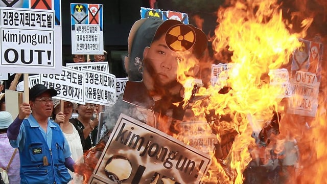 Protests cunter Kim Jong Un en la Corea dal sid.