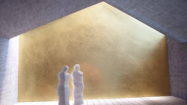 Visualisaziun da l'intern da la stalla renovada.
