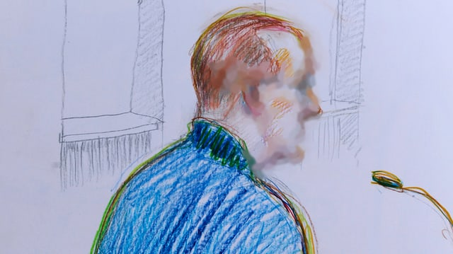 Illustration: Beschuldigter im Fall Bonstetten vor dem Zürcher Obergericht