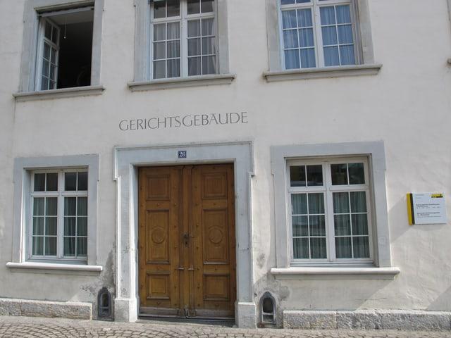 Eingang des Schaffhauser Kantonsgerichts.