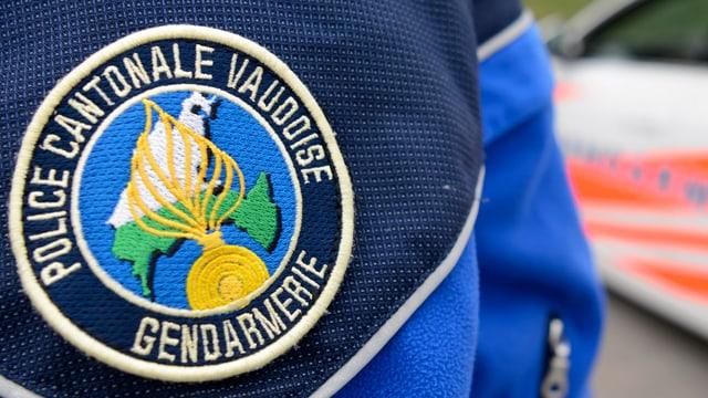 In emblem da la polizia dal chantun Vad.