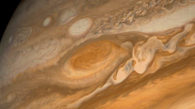 Das Sturm-Auge auf dem Jupiter.