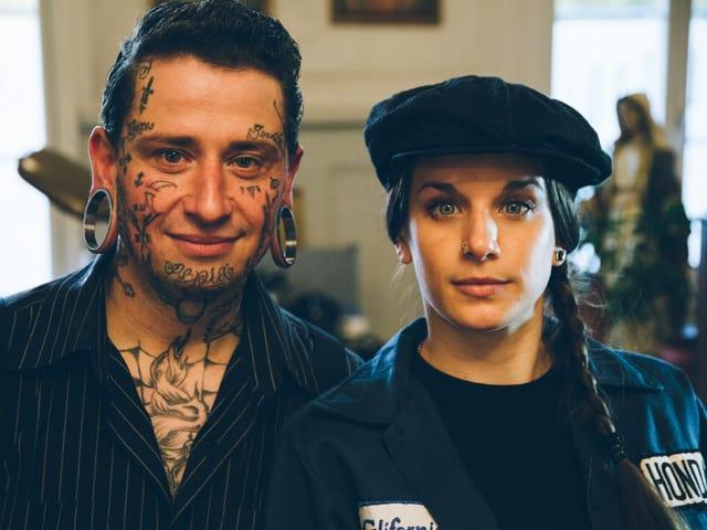 Pasquale und ich lernten uns an der Tattoo Convention Montreux kennen. Er stellte mir Valentin vor. Und so kam es zu einem ausserordentlich lustigen «Inked»-Drehtag.