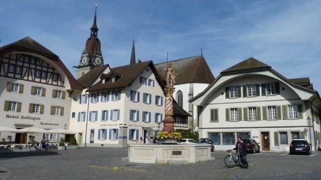 Blick auf Thutplatz in Zofingen