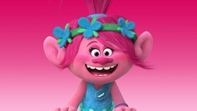 Troll mit pinken Haaren.