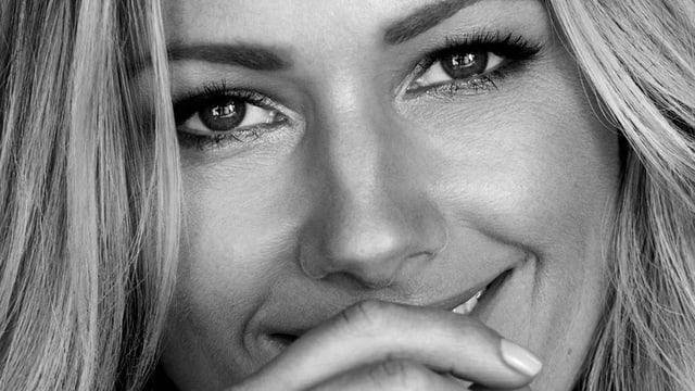Nahaufnahme Gesicht von Helene Fischer.