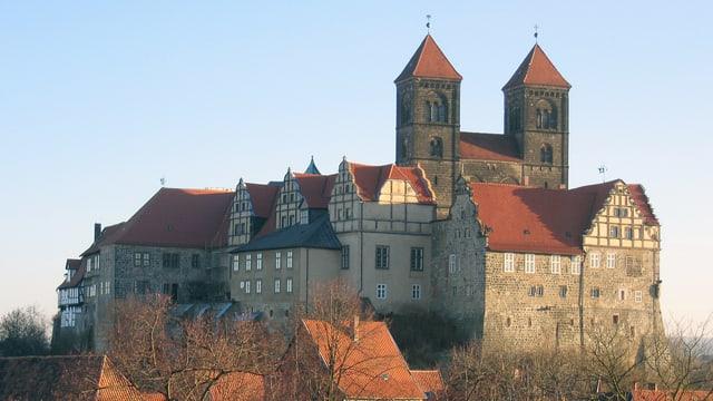 Quedlinburger Schloss mit Stiftskirche.