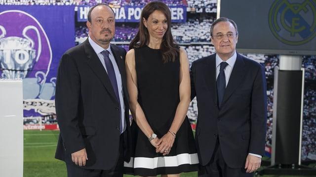 Montserrat Seara und Rafael Benitez bei der Vorstellung bei Real