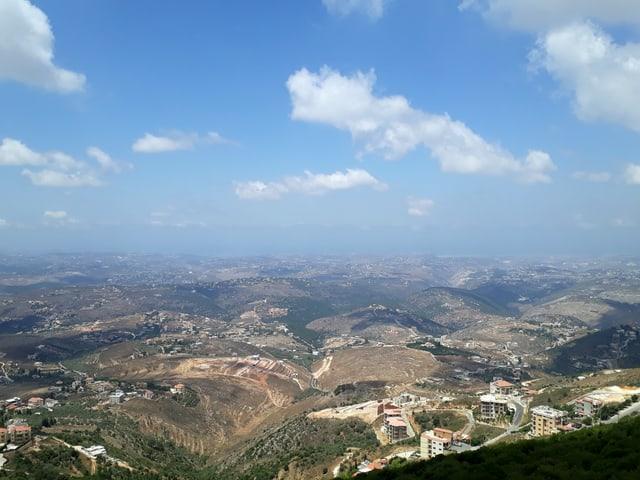 Aussicht über das Hisbollah-Gebiet