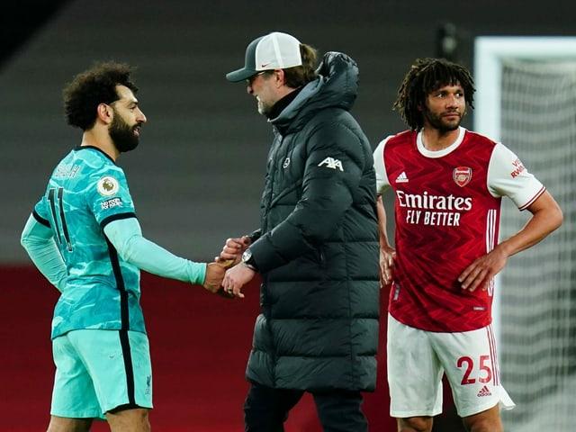 Mohamed Salah und Mohamed Elneny