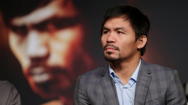Manny Pacquiao blickt grimmig