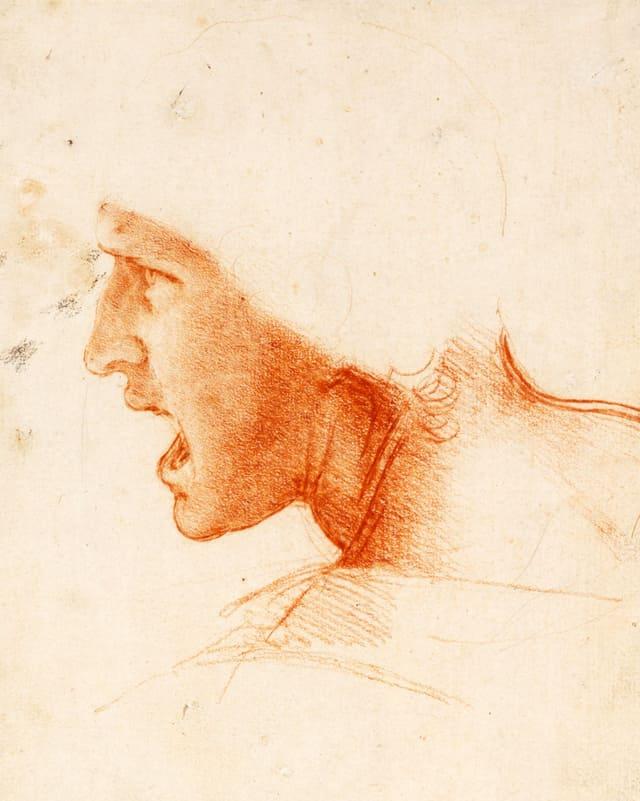 Skizze eines Soldaten.