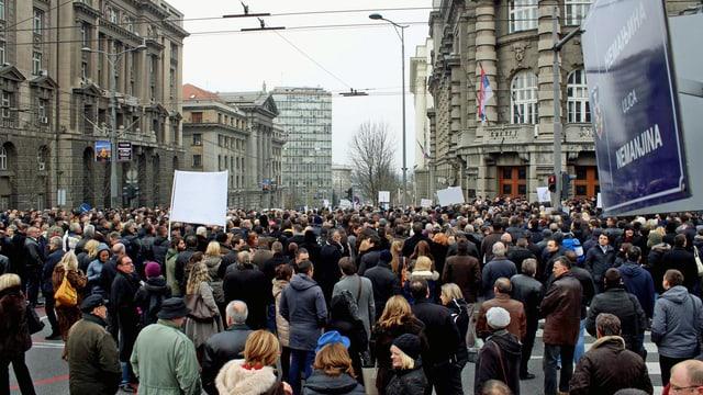 Demonstrierende Anwälte.