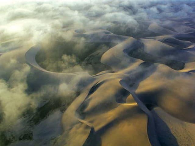 Die Namib-Wüste.