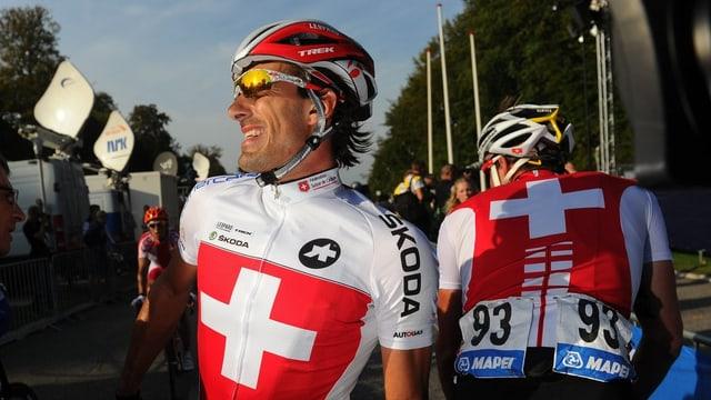 Fabian Cancellara führt das Schweizer Team an.